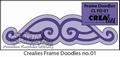 Crealies Frame Doodle CLFD01 per verpakking