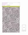 Craft Emotions Glitterpapier Zilver 1290/0165