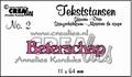 Crealies Tekstmal Beterschap CLTS02  per stuk