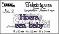 Crealies Tekstmal Hoera een Baby CLTS03