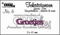 Crealies Tekstmal Groetjes CLTS06