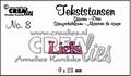 Crealies Tekstmal Liefs CLTS08