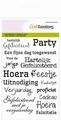 Craft Emotions Clear Stamp Gefeliciteerd NL 130501/1150