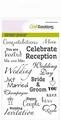 Craft Emotions Clear Stamp Huwelijk EN 130501/1153