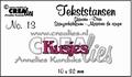 Crealies Tekstmal Kusjes CLTS13