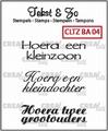 Crealies Clear Stamp Tekst en zo Baby 4 CLTZBA04* per stuk
