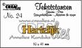 Crealies Tekstmal Hartelijk CLTS24 per stuk