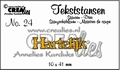 Crealies Tekstmal Hartelijk CLTS24
