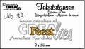 Crealies Tekstmal Feest CLTS33 per stuk