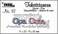 Crealies Tekstmal Opa Oma CLTS37 per stuk