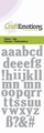 Craft Emotions Snijmal Alfabet Kleine Letters 115633/0164