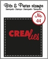 Crealies Clear Stamp Bits & Pieces nr. 44  CLBP44*