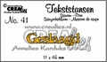 Crealies Tekstmal Geslaagd CLTS41
