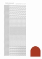 Hobbydots Sticker - Mirror - Christmas Red STDM04H per vel