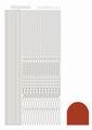 Hobbydots Sticker - Mirror - Christmas Red STDM03H per vel