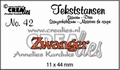 Crealies Tekstmal Zwanger CLTS42 per stuk