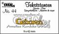 Crealies Tekstmal Geboren CLTS44