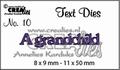 Crealies Tekstmal A Grandchild CLTD10 per stuk