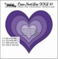 Crea-Nest-Lies set mallen nummer 47XXL Dots CLNest47XXL