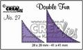 Crealies Double Fun Snijmal nr. 27 CLDF27
