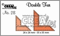 Crealies Double Fun Snijmal nr. 28 CLDF28