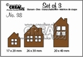Crealies Set of Three nummer 38 CLSET38