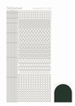 Hobbydots Sticker - Mirror - Christmas Green STDM09J per vel