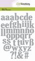 Craft Emotions Snijmal Alfabet kleine letters 115633/0502