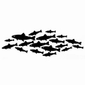 Lavinia Clear Stamp Shoal of Fish LAV432