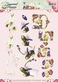 Precious Marieke knipvel Seasonal Flower Felicitatie CD10801