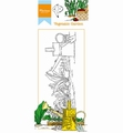 Marianne Design clear stamp Hetty's Border Garden HT1612