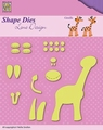 Nellie Snellen Shape Die Lene Design Build Up Giraffe SDL030
