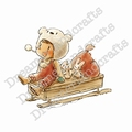 Dreamersland Crafts Cling Stamp Sledge Fun D1109035