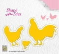 Nellie Snellen Shape Die Chicken Family SD123