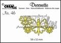Crealies Decorette Snijmal nr. 46  CLDR46 per stuk