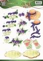 Jeanine's Art Knipvel Garden Classics Purple Flowers CD10836