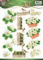 Jeanine's Art Knipvel Garden Classics White Flowers CD10834