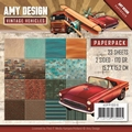 Amy Design Paper pack - Vintage Vehicles ADPP10016