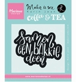Marianne Design clear stamp Karin Joan Quote Koffie  KJ1706