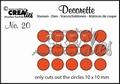 Crealies Decorette Snijmal nr. 20  CLDR20