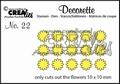 Crealies Decorette Snijmal nr. 22  CLDR22 per stuk