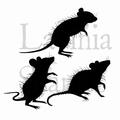 Lavinia Clear Stamp Three Woodland Mice LAV402