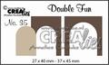 Crealies Double Fun Snijmal nr. 35 CLDF35*