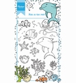 Marianne Design clear stamp Hetty's Fish in the Reef HT1618