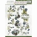 Precious Marieke knipvel Fantastic Flower Blue Grape CD10858
