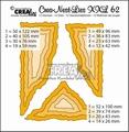 Crea-Nest-Lies set mallen nummer 62 XXL   CLNest62XXL per stuk