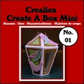 Crealies Create A Box MINI Snijmal nummer 1   CCABM01