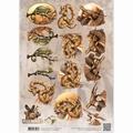 Amy Design knipvel Wild Animals - Reptiles CD10869
