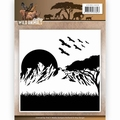 Amy Design Embossing Folder Wild Animals ADEMB10006 per stuk