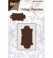 Joy Crafts Snijmal Vintage Flourishes Label  6003/0079 per stuk